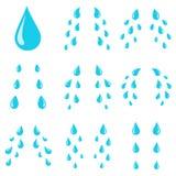 Scheurendalingen Verdriet het huilen schreeuwstromen, scheurvlek of zweetdaling Stroom van schreeuwende natte ogenscheuren geïsol vector illustratie