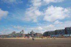 Scheveningen beach. Skyline Scheveningen beach near Kurhaus Hotel Stock Image