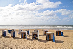 Scheveningen beach in the Netherlands Stock Photography