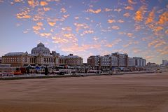 Scheveningen beach in the Netherlands. At sunset Stock Image