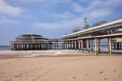 Scheveningen Beach and Pier in Hague Royalty Free Stock Image
