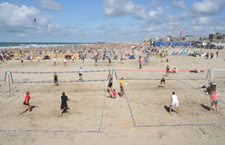 Scheveningen Beach Volleyball Royalty Free Stock Photo