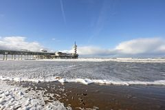Scheveningen and 'De Pier' in Holland. On a stormy day Royalty Free Stock Image