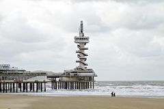 Scheveningen en Hollandes Photos stock