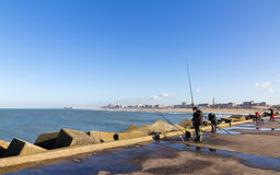 Scheveningen Fishing Stock Photography