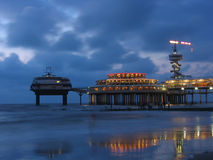 Scheveningen at night Stock Photography