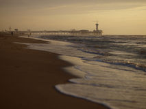 Scheveningen pier. On a late summer evening with copy space underneath Stock Photography