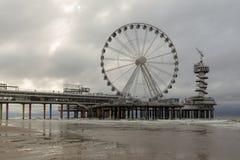 Scheveningen Pier In The Hague, Países Bajos fotografía de archivo