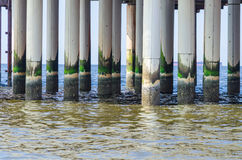 Scheveningen, sandy beach, jetty, pier Royalty Free Stock Images