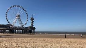 Scheveningen strand, Haag stock video