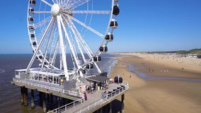 Scheveningen strand, Haag stock video