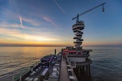 Scheveningen sunset Royalty Free Stock Images