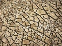 Séchez la terre criquée Photos stock