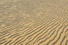 Séchez le sable d'or ondulé, idéal pour des milieux Photo libre de droits