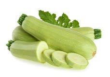 Schiacci lo zucchini della zucca isolato su fondo bianco Immagini Stock
