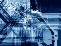 Schiacciamento blu del ghiaccio Fotografie Stock