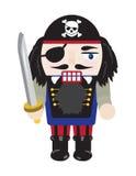Schiaccianoci del pirata Fotografia Stock