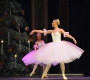 Schiaccianoci di balletto della ragazza- dei fiocchi di neve Fotografie Stock Libere da Diritti