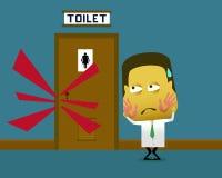 Schiaffeggiato perché una toilette dell'entrata illustrazione vettoriale