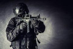 SCHIAFFO dell'ufficiale di polizia dei ops di spec. Fotografia Stock Libera da Diritti