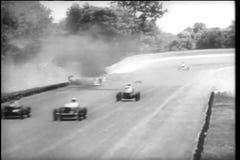 Schianti e bruci durante il Indy 500, Indianapolis Motor Speedway video d archivio