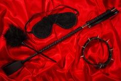 Schiavitù, giochi adulti crespi del sesso, nodo e concetto di stile di vita di BDSM fotografia stock