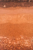 Schicht Boden für Hintergrund für die Landwirtschaft stockbild