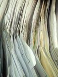 Schicht der alten Dokumentenvertikale stockfotos