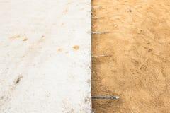 Schicht der Betonstraße des Zementes Lizenzfreies Stockfoto