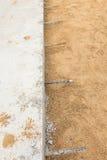 Schicht der Betonstraße des Zementes Stockfoto