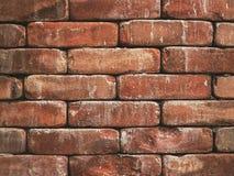 Schicht der rauen Wand des roten Backsteins stockbild