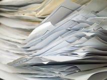 Schicht des alten Dokuments horizontal lizenzfreies stockbild