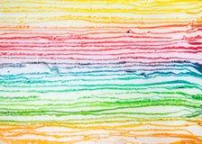 Schicht des Regenbogenkreppkuchens stockfotografie