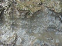 Schicht eines Schmutzes und des Mudflow Stockbilder