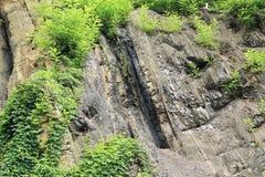 Schicht Kohle im Felsen lizenzfreie stockfotografie