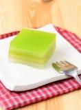 Schicht-süßer Kuchen, Kanom Chan stockbild