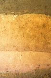 Schicht trockener Boden knackt zur Wurzel stockfotografie