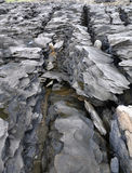 Schichten der metamorphen Gesteine Stockfotos