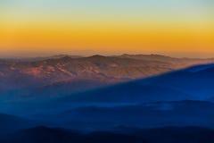 Schichten des Berges Stockbild