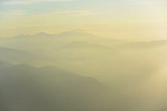 Schichten des Berges Stockfotos
