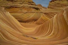 Schichten des Sandsteinteils der Welle stockfotos