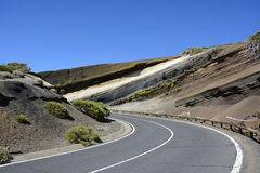 Schichten des vulkanischen Felsens, Teneriffa, Kanarische Inseln, Spanien, Europa Stockfotos
