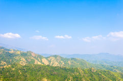 Schichten eines Berges lizenzfreies stockfoto