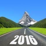 Schicken Sie zum neuen Jahr 2016 nach Stockfotografie
