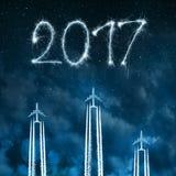 Schicken Sie zum neuen Jahr 2017 nach Lizenzfreies Stockfoto