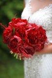 Schicker Brautblumenstrauß Stockbilder