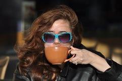 Schicker europäischer Kaffee Lizenzfreie Stockbilder