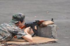 Schießübung stockfotos