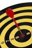Schießen Sie Zielbrett, Zusammenfassung des Erfolgs auf weißem Hintergrund Lizenzfreies Stockbild