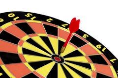 Schießen Sie Zielbrett, Zusammenfassung des Erfolgs auf weißem Hintergrund Lizenzfreie Stockfotos